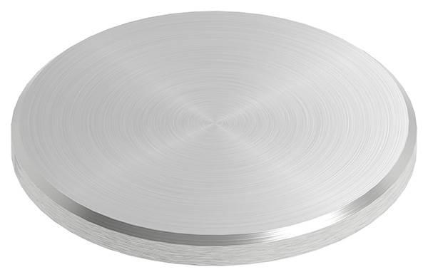 Ronde | Maße: Ø 50x4 mm | mit Rundschliff + Fase | V2A