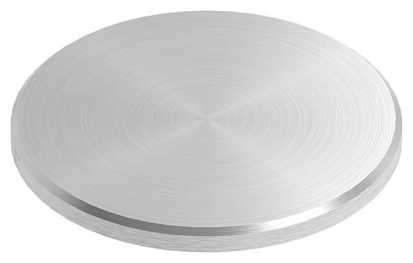 Ronde | Maße: Ø 60x4 mm | mit Rundschliff + Fase | V2A