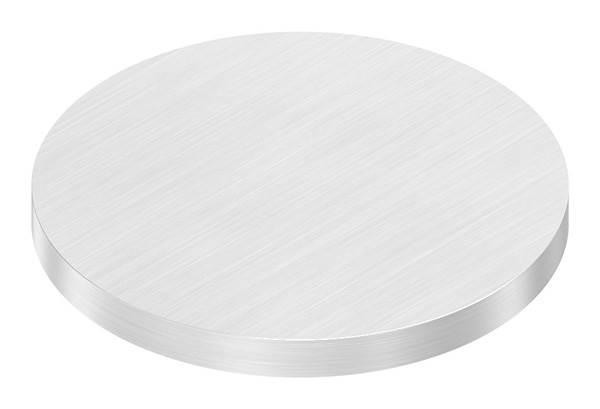 Ronde   Maße: Ø 70x6 mm   mit Längsschliff   V2A