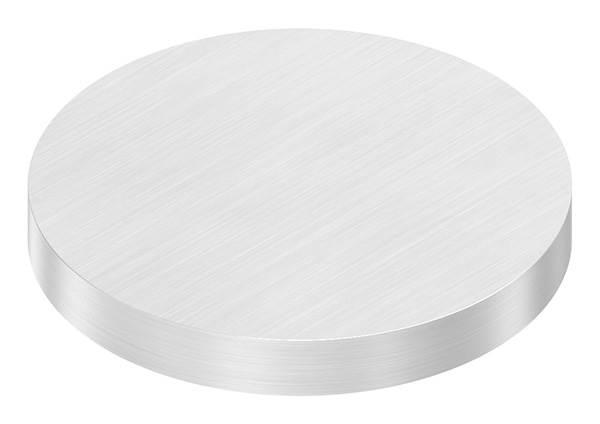 Ronde   Maße: Ø 80x10 mm   mit Längsschliff   V2A