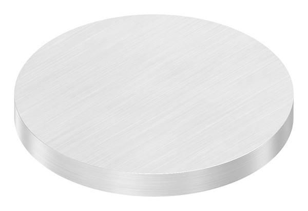 Ronde   Maße: Ø 80x8 mm   mit Längsschliff   V2A