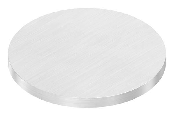 Ronde   Maße: Ø 80x6 mm   mit Längsschliff   V2A