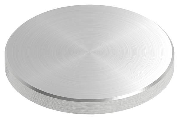 Ronde | Maße: Ø 80x8 mm | mit Rundschliff + Fase | V2A