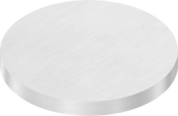 Ronde   Maße: Ø 100x10 mm   mit Längsschliff   V2A