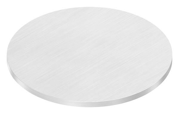 Ronde   Maße: Ø 100x4 mm   mit Längsschliff   V2A