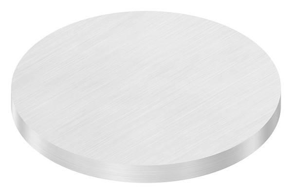 Ronde   Maße: Ø 100x8 mm   mit Längsschliff   V2A