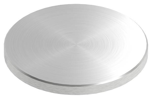 Ronde | Maße: Ø 100x8 mm | mit Rundschliff und Fase | V2A