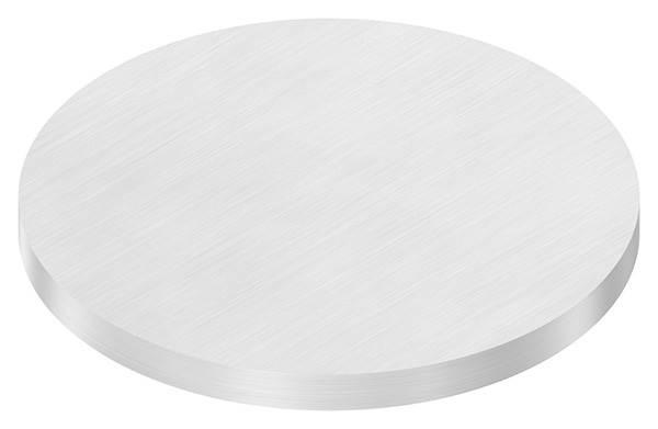 Ronde   Maße: Ø 140x10 mm   mit Längsschliff   V2A