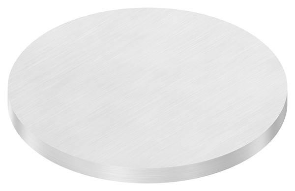 Ronde   Maße: Ø 150x10 mm   mit Längsschliff   V2A