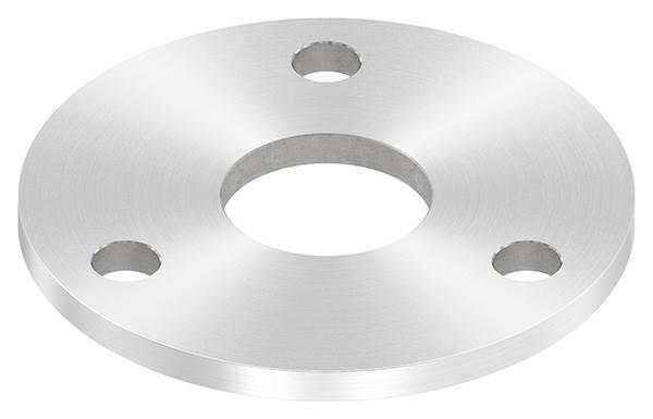 Ankerplatte | Ø 100 x 6 mm | mit Zentrierbohrung: Ø 34 mm | V2A