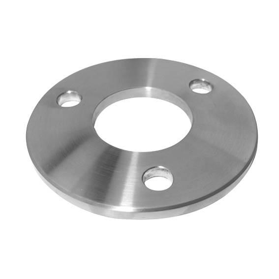 Ankerplatte | Ø 100 x 6 mm | mit Zentrierbohrung: Ø 42,6 mm | V2A