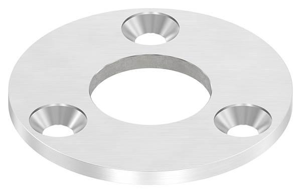 Ankerplatte | Ø 100 x 6 mm | mit Zentrierbohrung: Ø 42,8 mm | V2A