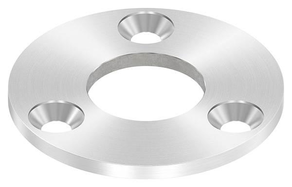 Ankerplatte | Maße: 100x6 mm | mit Rundschliff und Mittelbohrung | V2A