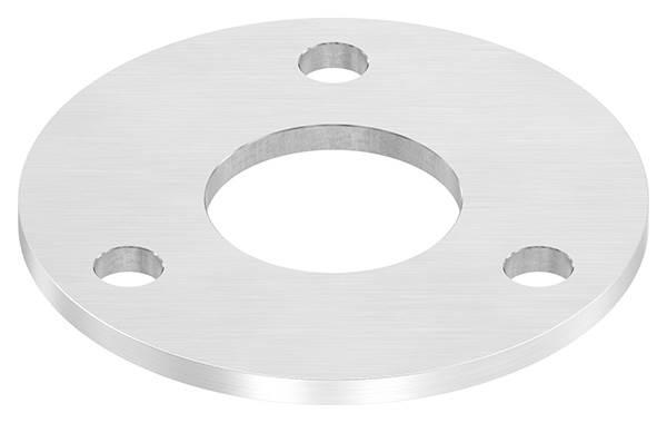 Ankerplatte | Maße: 120x6 mm | Längsschliff und Mittelbohrung | V2A
