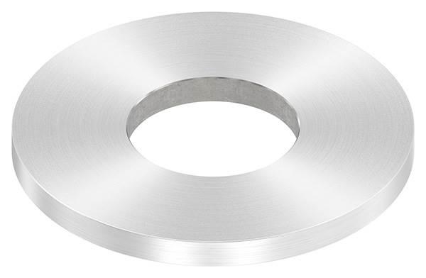 Ankerplatte | Maße: 80x6 mm | Rundschliff und Mittelbohrung | V2A