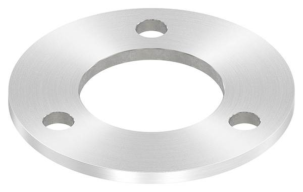 Ankerplatte | Maße: 120x6 mm | Rundschliff und Mittelbohrung | V2A