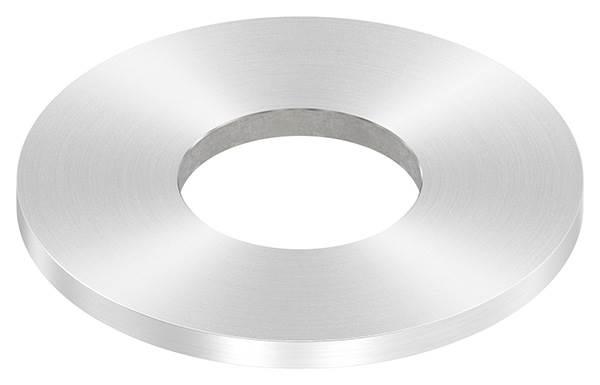 Ankerplatte | Maße: 100x6 mm | Rundschliff und Mittelbohrung | V2A