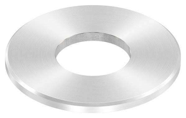 Ankerplatte   Maße: 100x6 mm   Rundschliff + Fase und Mittelbohrung   V2A
