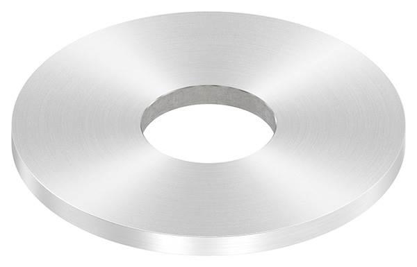 Ankerplatte | Maße: Ø 100x6 mm | Rundschliff + Mittelbohrung | V2A