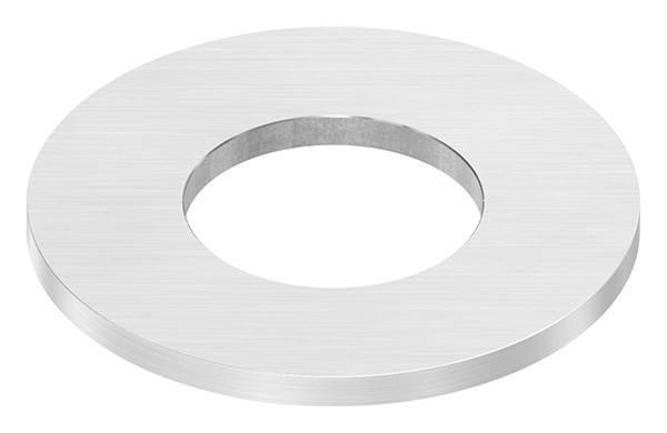 Ankerplatte | Maße: Ø 100x6 mm | für Rundrohr: Ø 48,3 mm | mit Längsschliff | V2A
