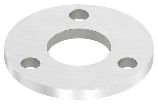 Ankerplatte | Maße: 100x8 mm | Längsschliff und Mittelbohrung | V2A
