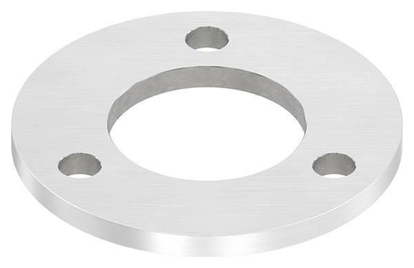 Ankerplatte | Maße: 120x8 mm | Längsschliff und Mittelbohrung | V2A