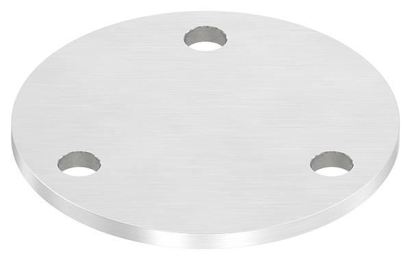 Ankerplatte   Maße: Ø 120x6 mm   mit 3 Bohrungen Ø 11 mm   V2A