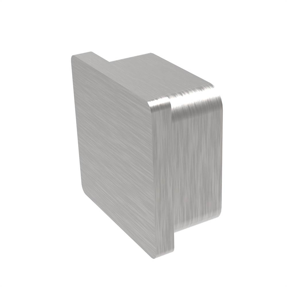 Einsteckkappe zum Kleben | für Rohr: 40x40x2,0 mm | V2A