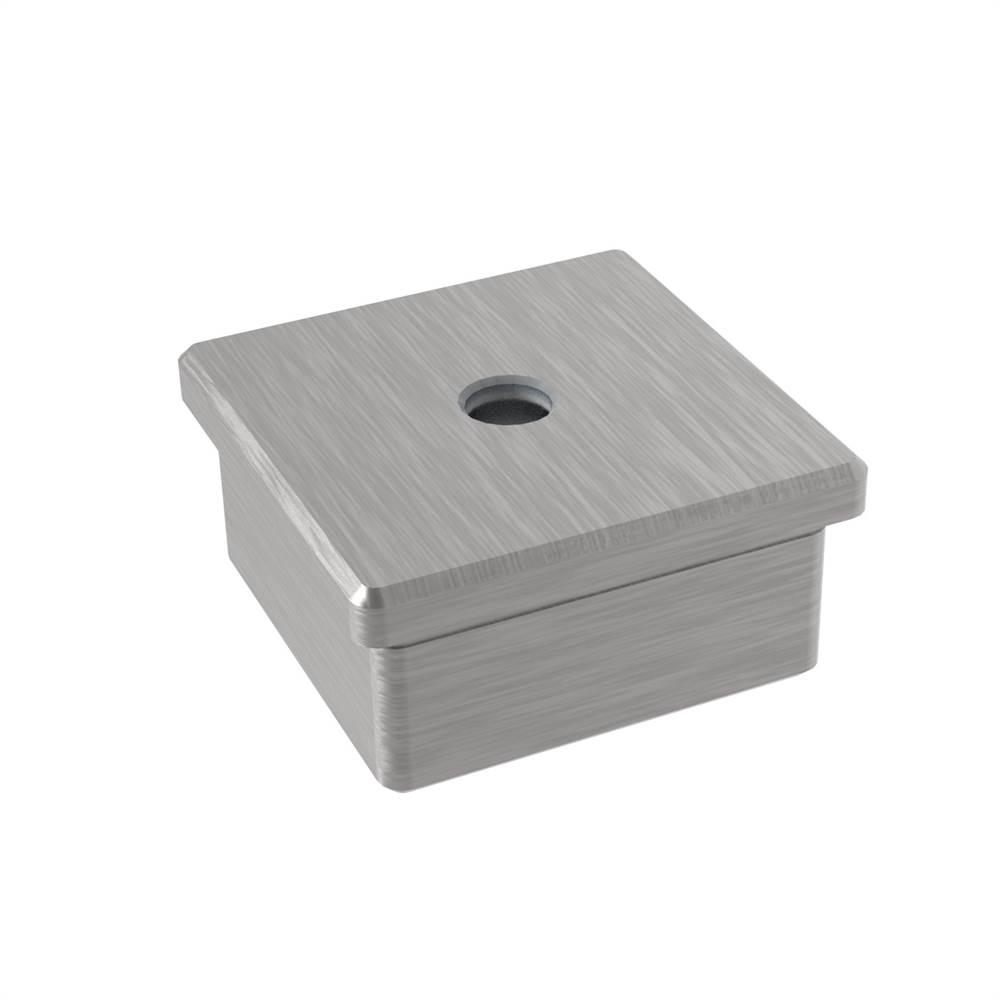 Einsteckkappe zum Kleben | mit Gewinde: M8 | für Rohr: 40x40x2 mm | V2A