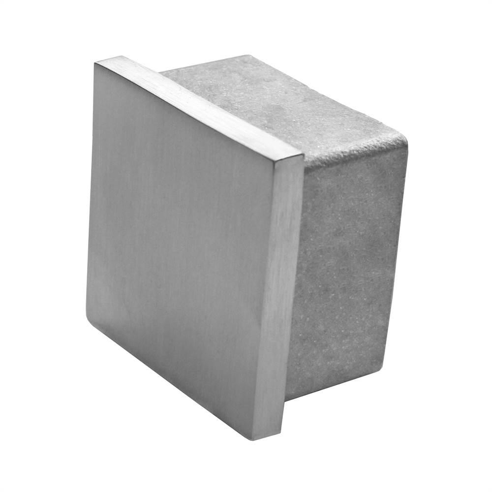 Einsteckkappe zum Kleben   für Rohr: 60x60x2 mm   V2A