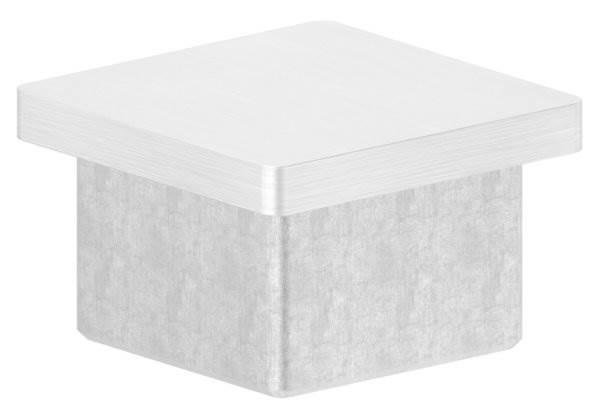 Einsteckkappe V4A zum Kleben für Rohr 40x40x4,0 mm