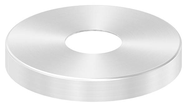 Abdeckrosette 105x15 mm V2A für Rundrohr 34 mm
