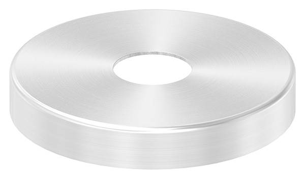 Abdeckrosette | Maße: Ø 76x12 mm | für Rundrohr: Ø 20 mm | V2A