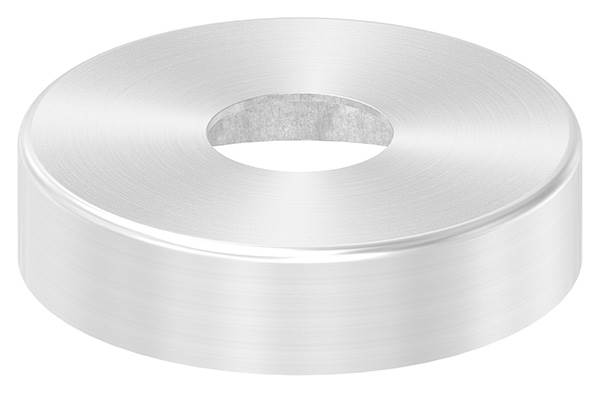 Abdeckrosette | Maße: Ø 62x15 mm | für Rundrohr: Ø 20 mm | V2A