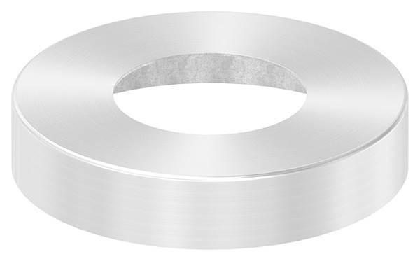 Abdeckrosette | Maße: Ø 125x25 mm | für Rundrohr: Ø 60,3 mm | V2A
