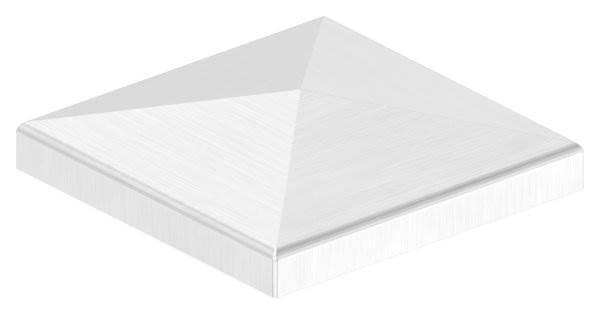 Pyramidenkappe für Rohr 80x80 mm V2A