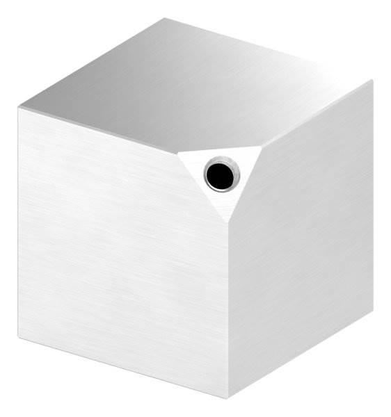 Würfel 60x60x3 mm mit Gewinde M8 V2A