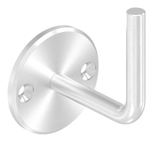 Handlaufhalter   mit Ronde 70 x 6 mm   zum Anschweißen   2 Bohrungen   Edelstahl V2A AISI304