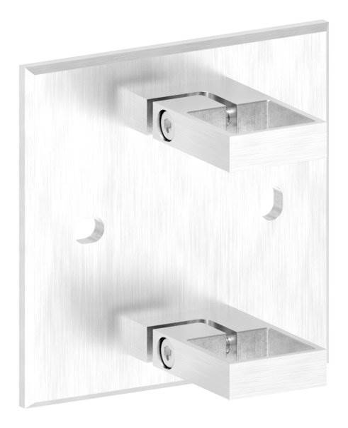 Wandbesfestigung 150x130 mm für Quadratrohr 40x40
