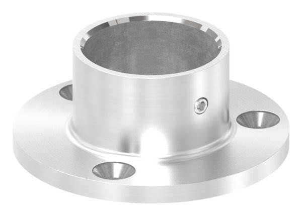 Ankerplatte | Maße: Ø 70x6 mm | für Rundrohr: Ø 33,7 mm | V2A