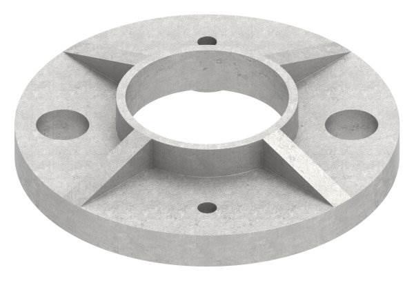 Ankerplatte | Maße: Ø 80x6 mm | für Rundrohr: Ø 33,7 mm | V2A