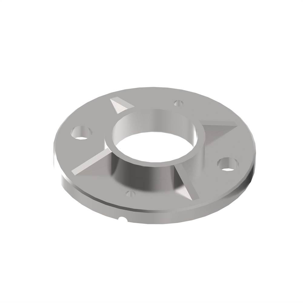 Bodenanker | Maße: Ø 100x6 mm | für Rundrohr: Ø 42,4 mm | V2A