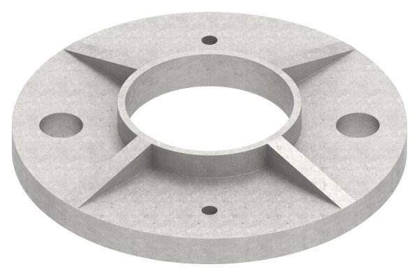 Ankerplatte | Maße: Ø 100x6 mm | für Rundrohr: Ø 42,4 mm | V2A