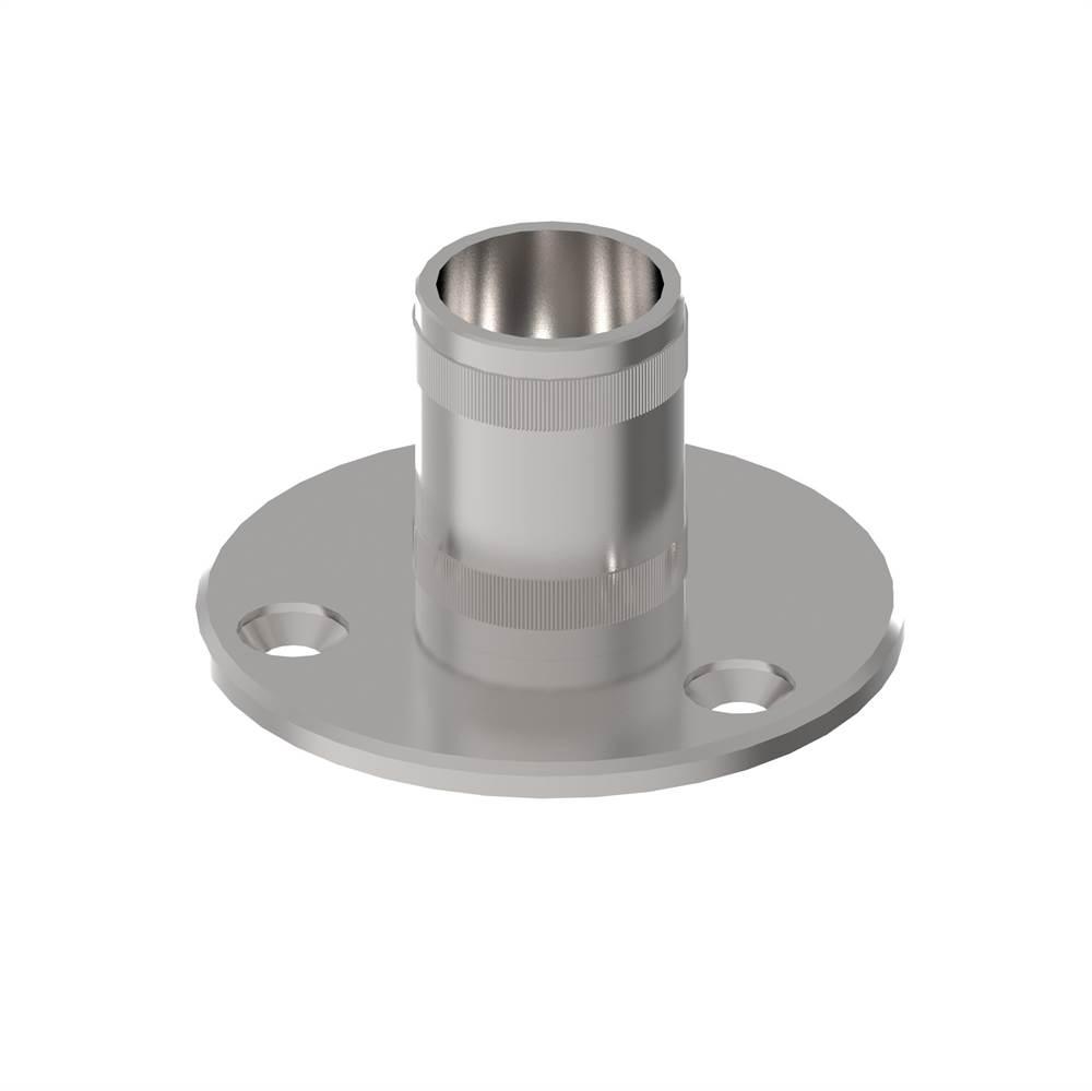 Bodenanker mit Rändelung   für Rundrohr: Ø 42,4x2 mm   V2A
