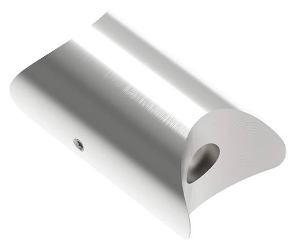 Rohrverbindungsstück verstellbar für Rundrohr Ø 42,4 mm V2A