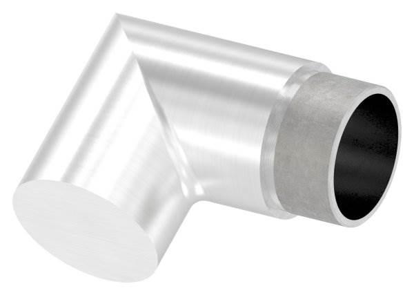 Endstück 90° flach-eckig, für Rundrohr Ø 42,4x2,0 mm V2A