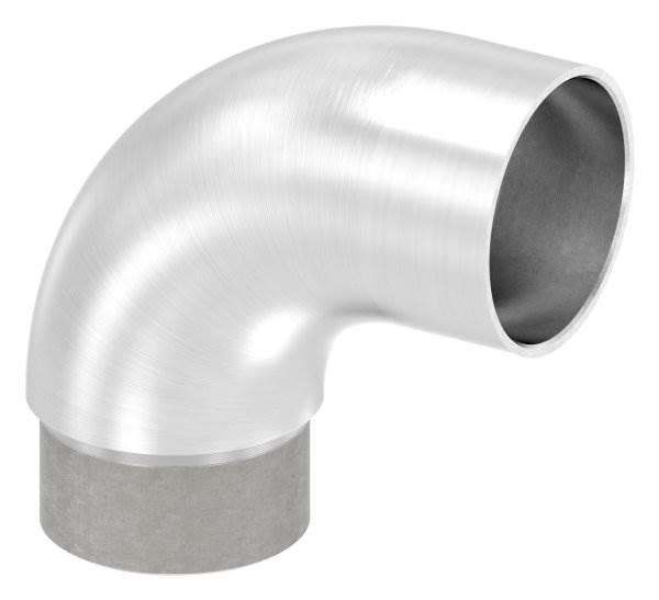 Anschlussbogen 90° für Rundrohr Ø 42,4x2,0 mm V2A