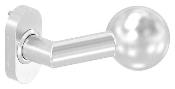 V2A Türdrücker gekröpft mit Kugel Ø 50 mm feststeh