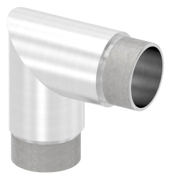 Eckbogen 90°, für Rundrohr Ø 42,4x2,0 mm V2A