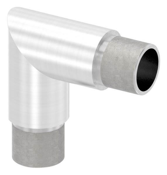 Eckbogen 90°, für Rundrohr Ø 26,9x2,0 mm V4A